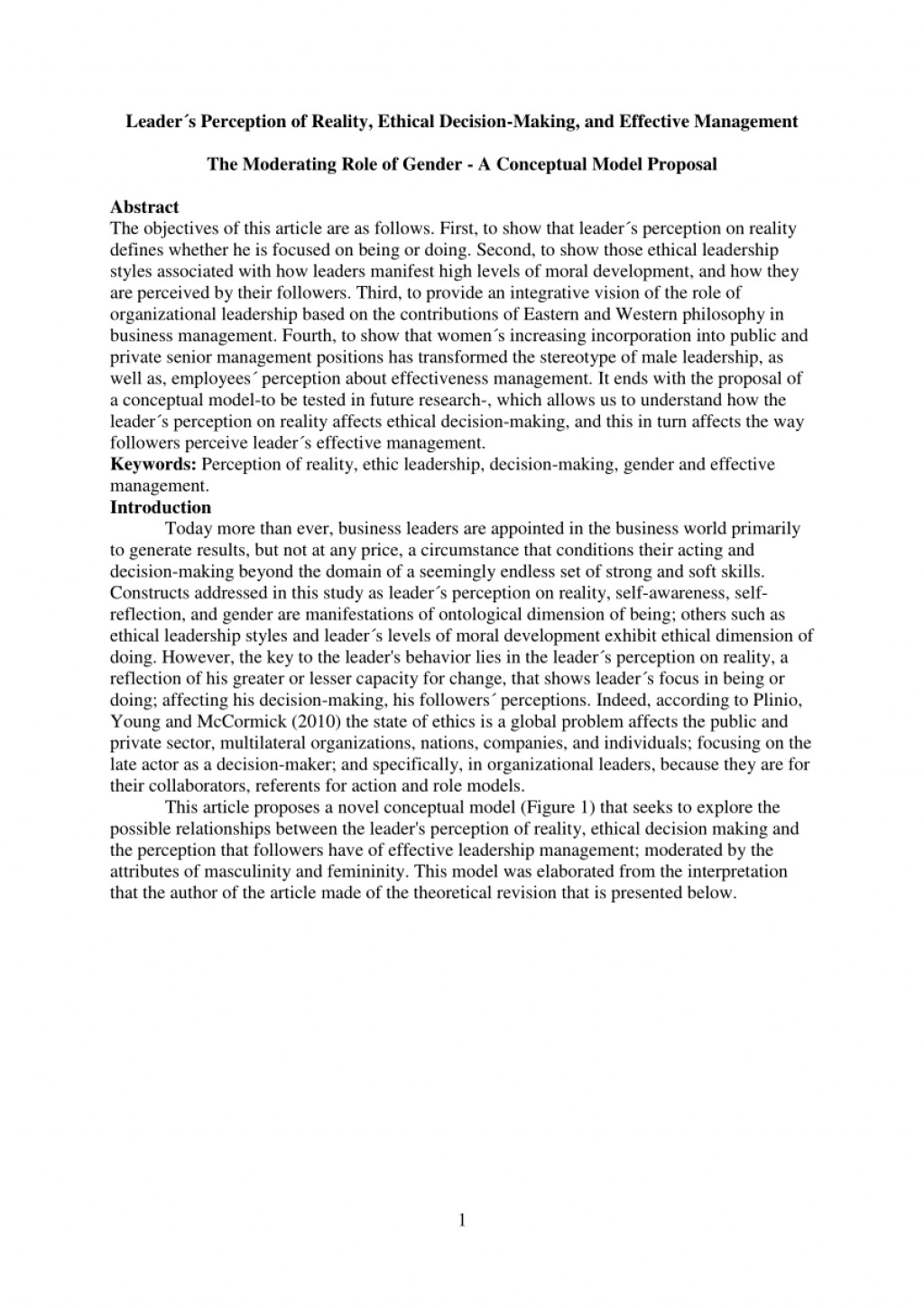 016 Essay Example Being Leader Imposing A Great College Qualities Of Pdf Large