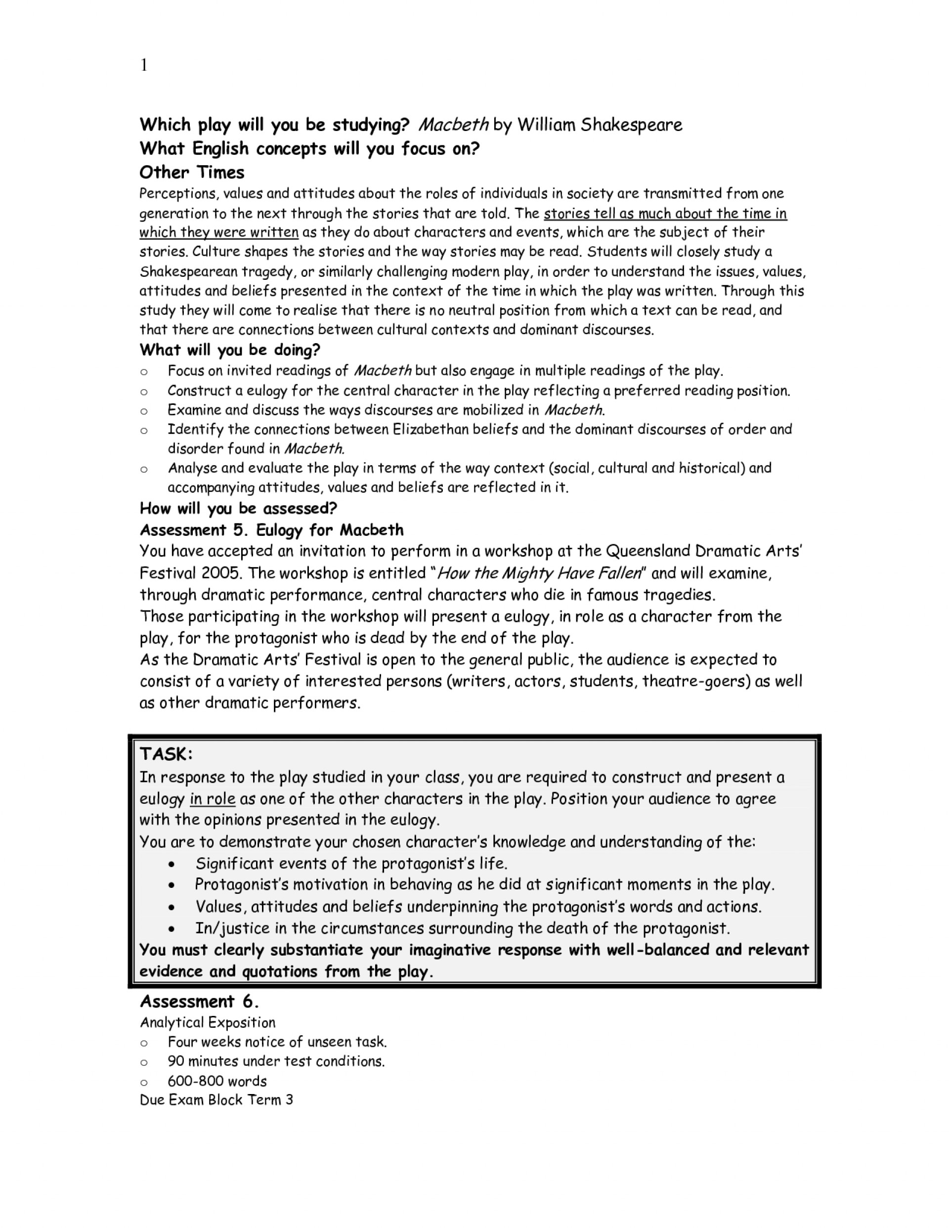 016 Essay Example Best Photos Of Art Appreciation Diabetes Research Paper Formal Macbeth Outline L Marvelous On And Lady Macbeth's Relationship Literary As A Tragic Hero Plan 1920