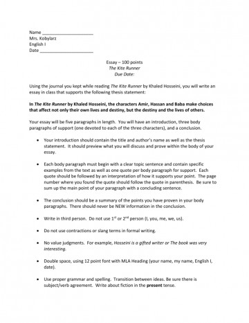016 Essay Example Character 009664657 1 Wondrous Prompts Rubric Writing 360