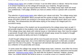 016 Essay Example College Topics Top A B And C Argumentative Common To Avoid 320