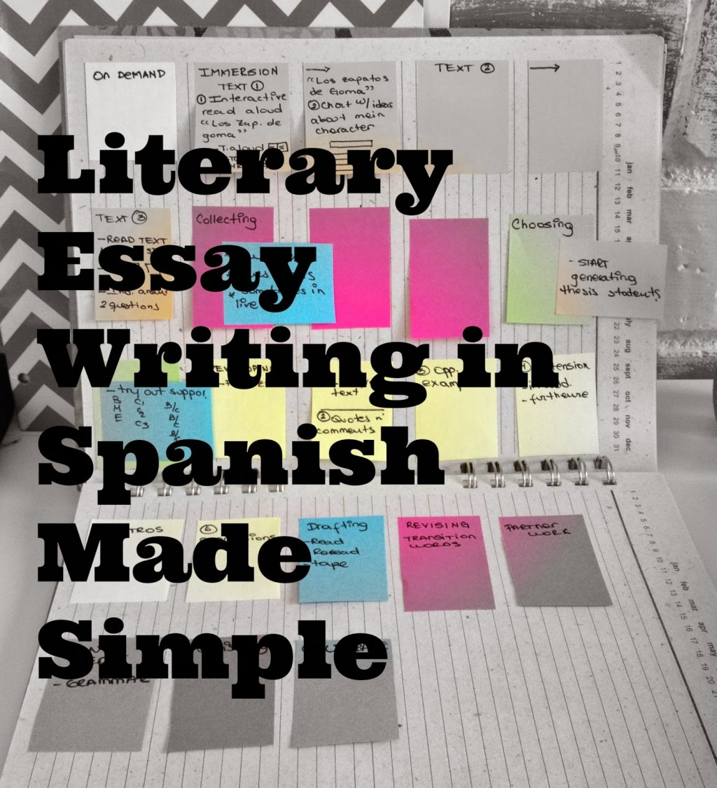 016 Essay Example Essays In Spanish Lit Fascinating Tips For Writing Written Phrases Large
