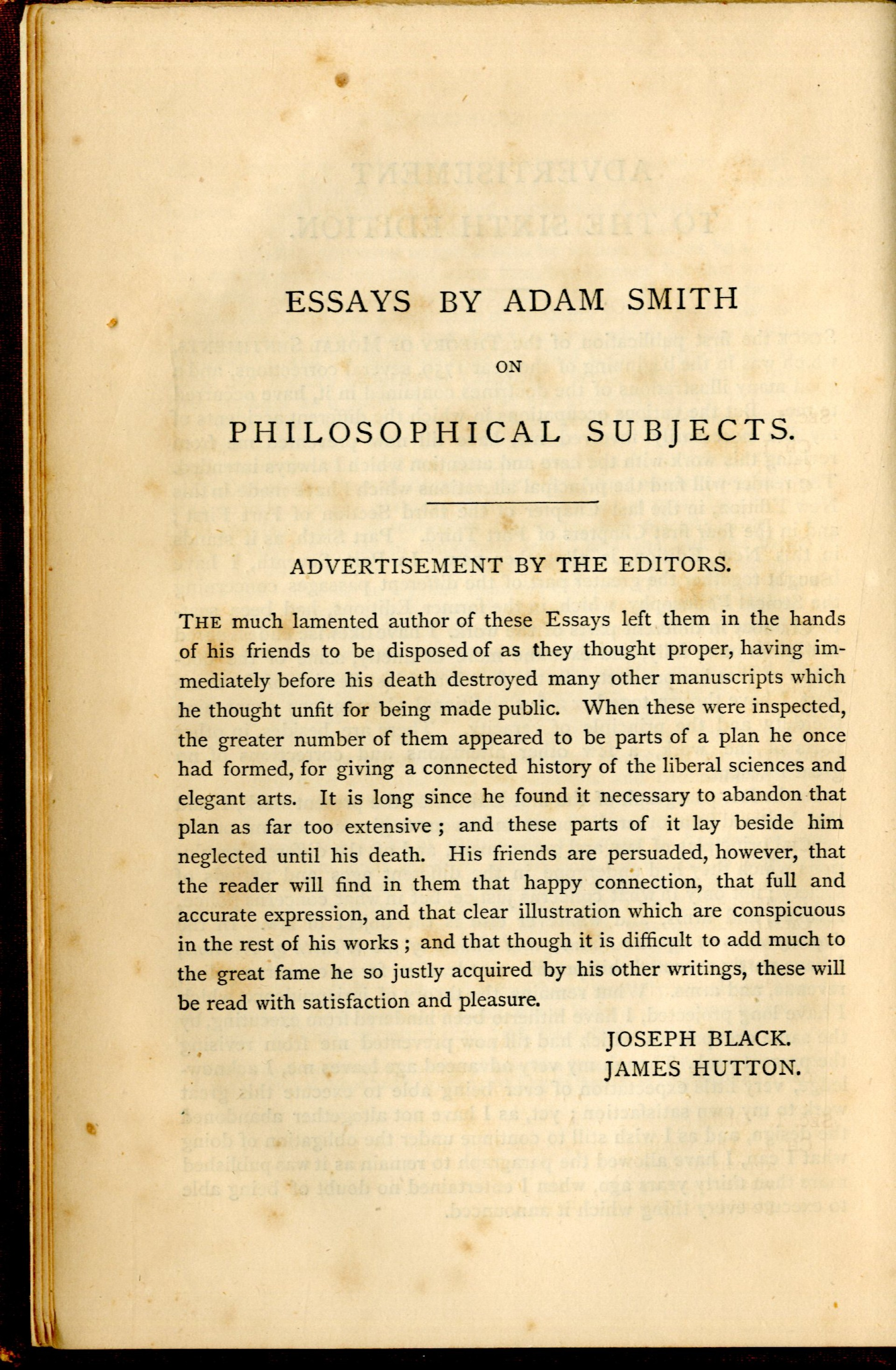 016 Essay Example Essays On Philosophical Best Subjects Smith Pdf 1920