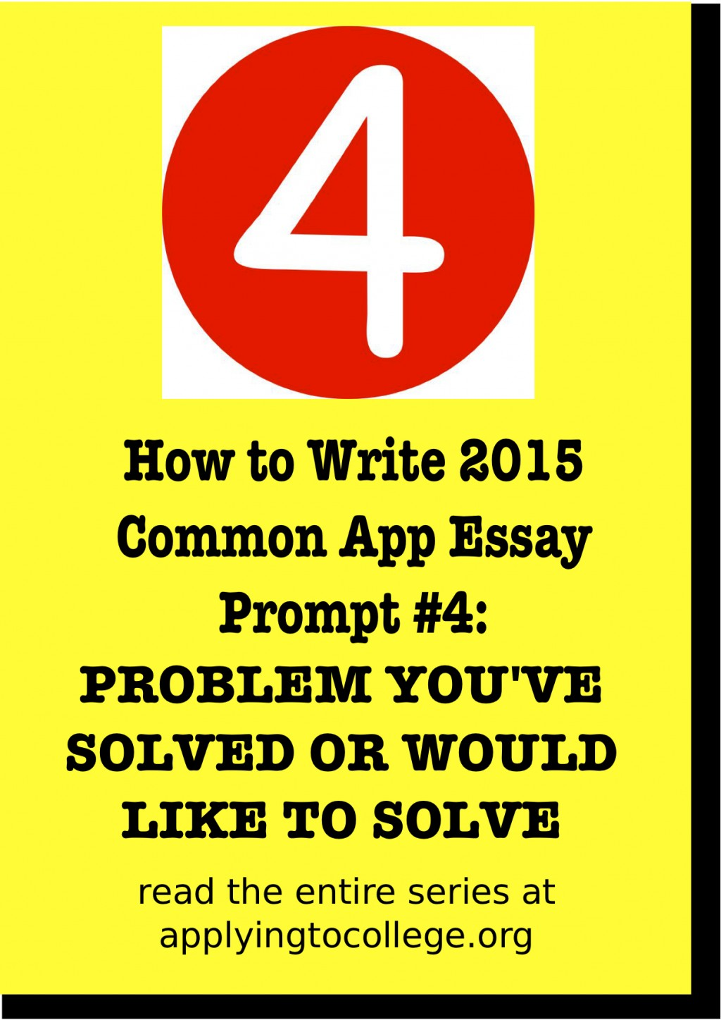 016 Essay Example How To Write Common App Problem Many Essays Do Amazing You Should Large