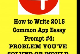 016 Essay Example How To Write Common App Problem Many Essays Do Amazing You Should