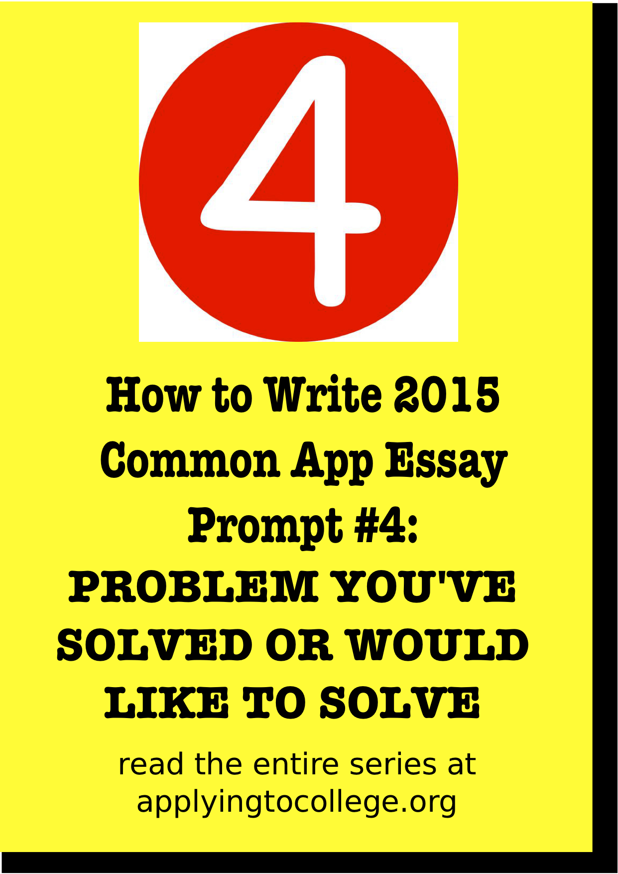 016 Essay Example How To Write Common App Problem Many Essays Do Amazing You Should Full