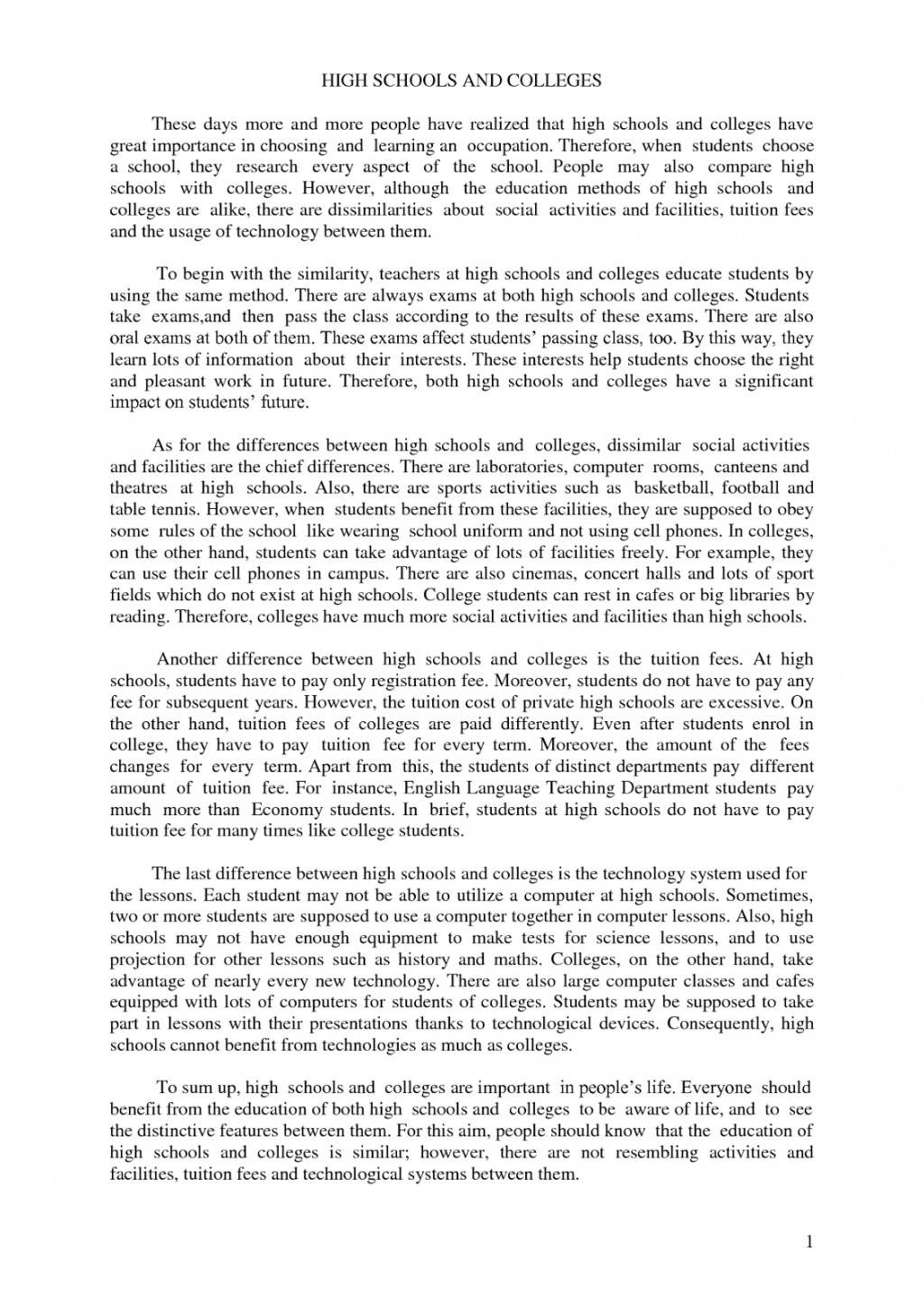 016 Essay Example How To Write High School Fantastic A History For Admission Large
