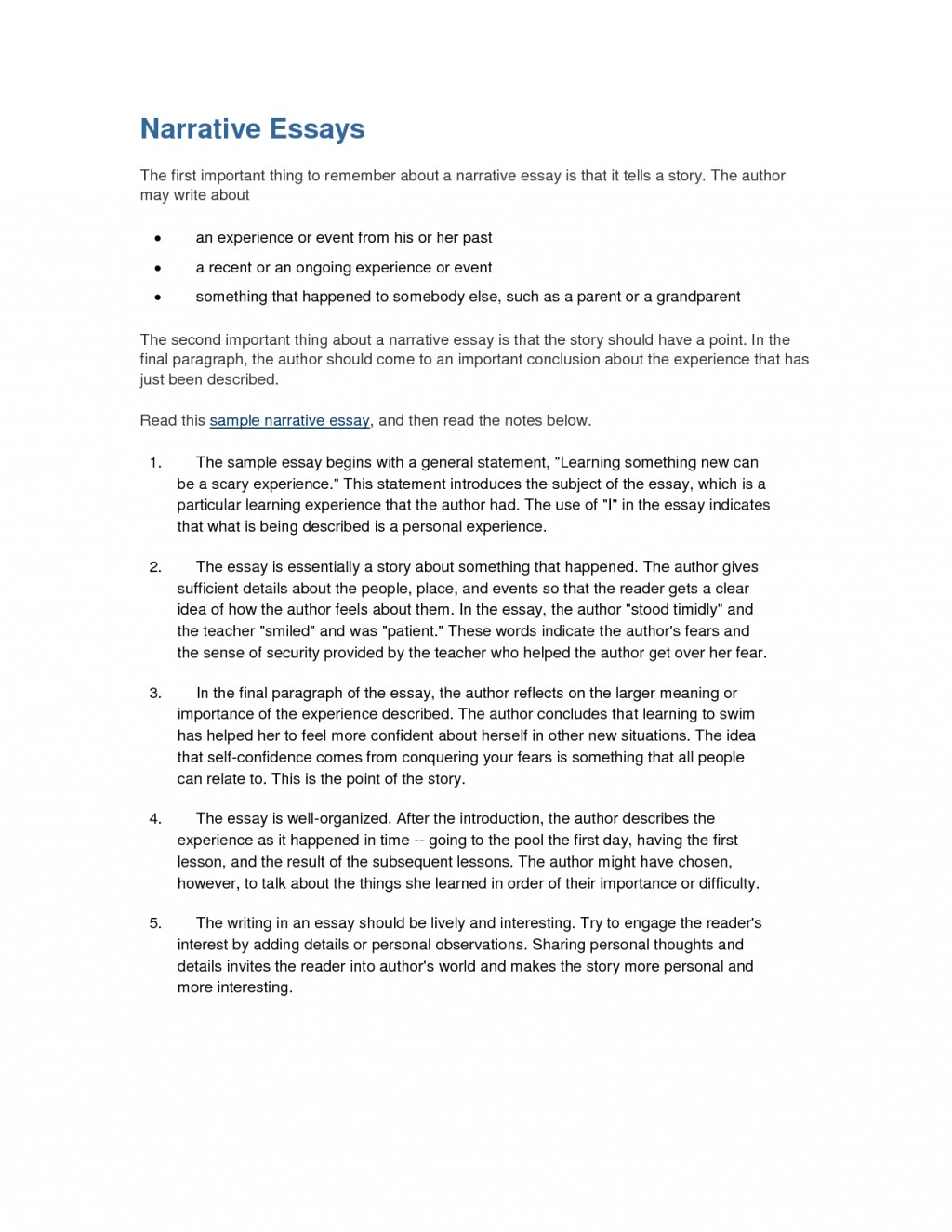 016 Essay Example Interview Examples Free Narrative Formidable Sample Large