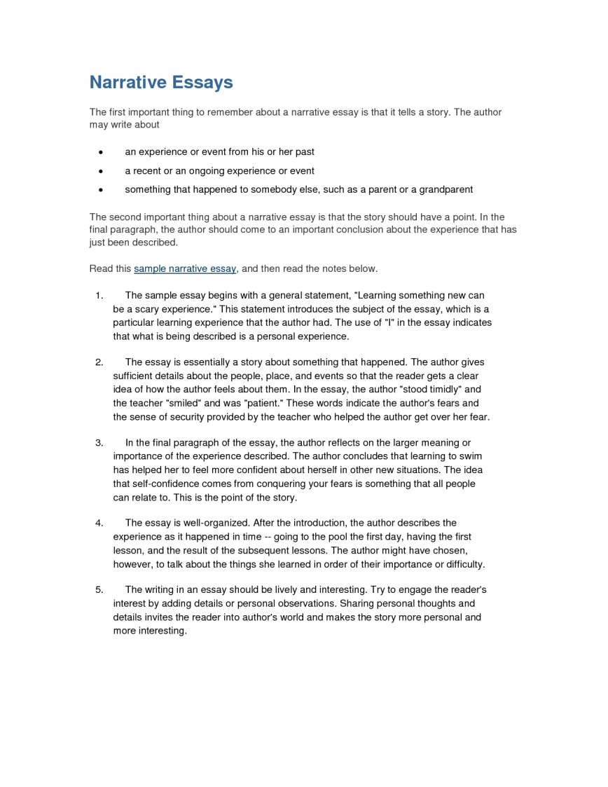 016 Essay Example Interview Examples Free Narrative Formidable Sample