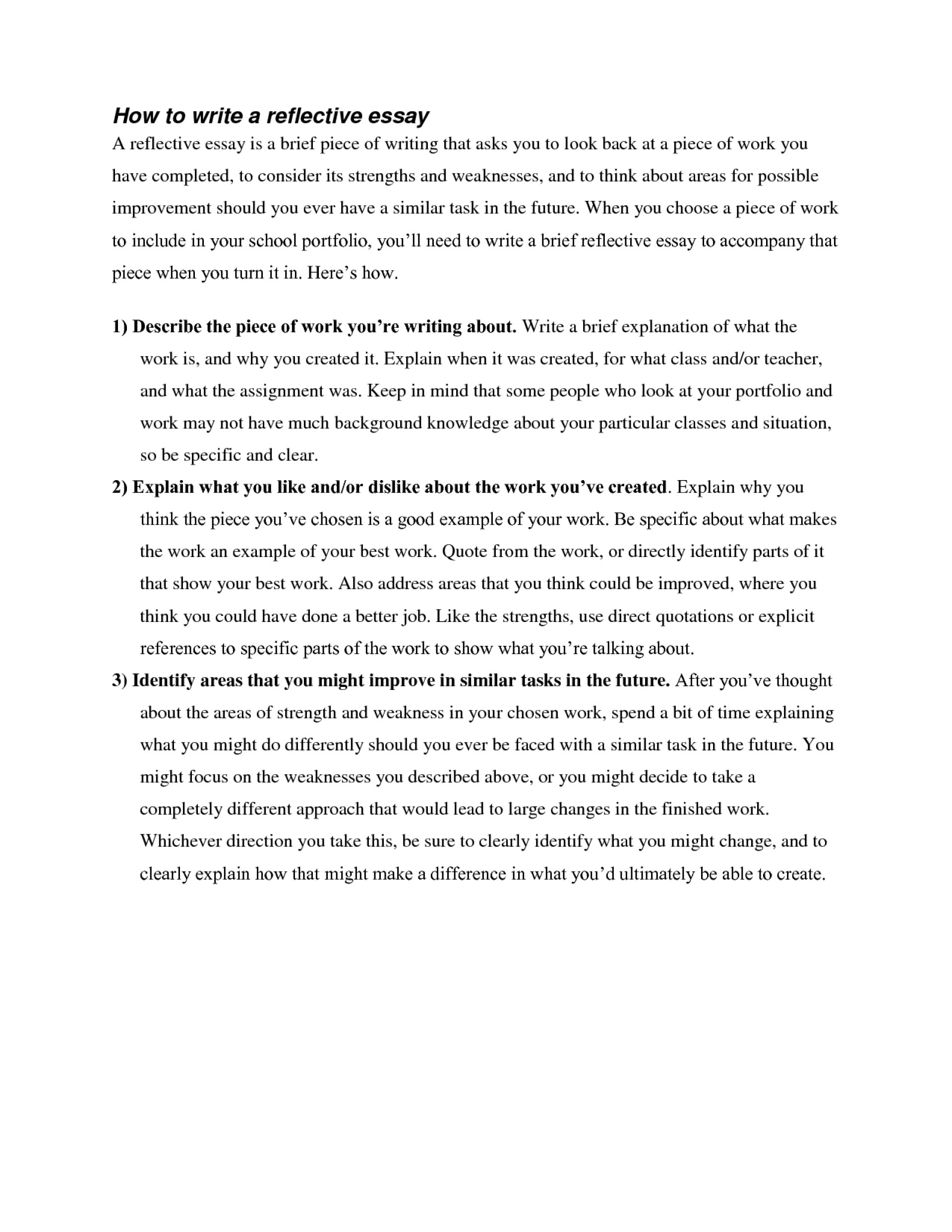 016 Essay Example Jixttpb0lf What Is Impressive A Reflection Does Reflective Look Like Examples 1920