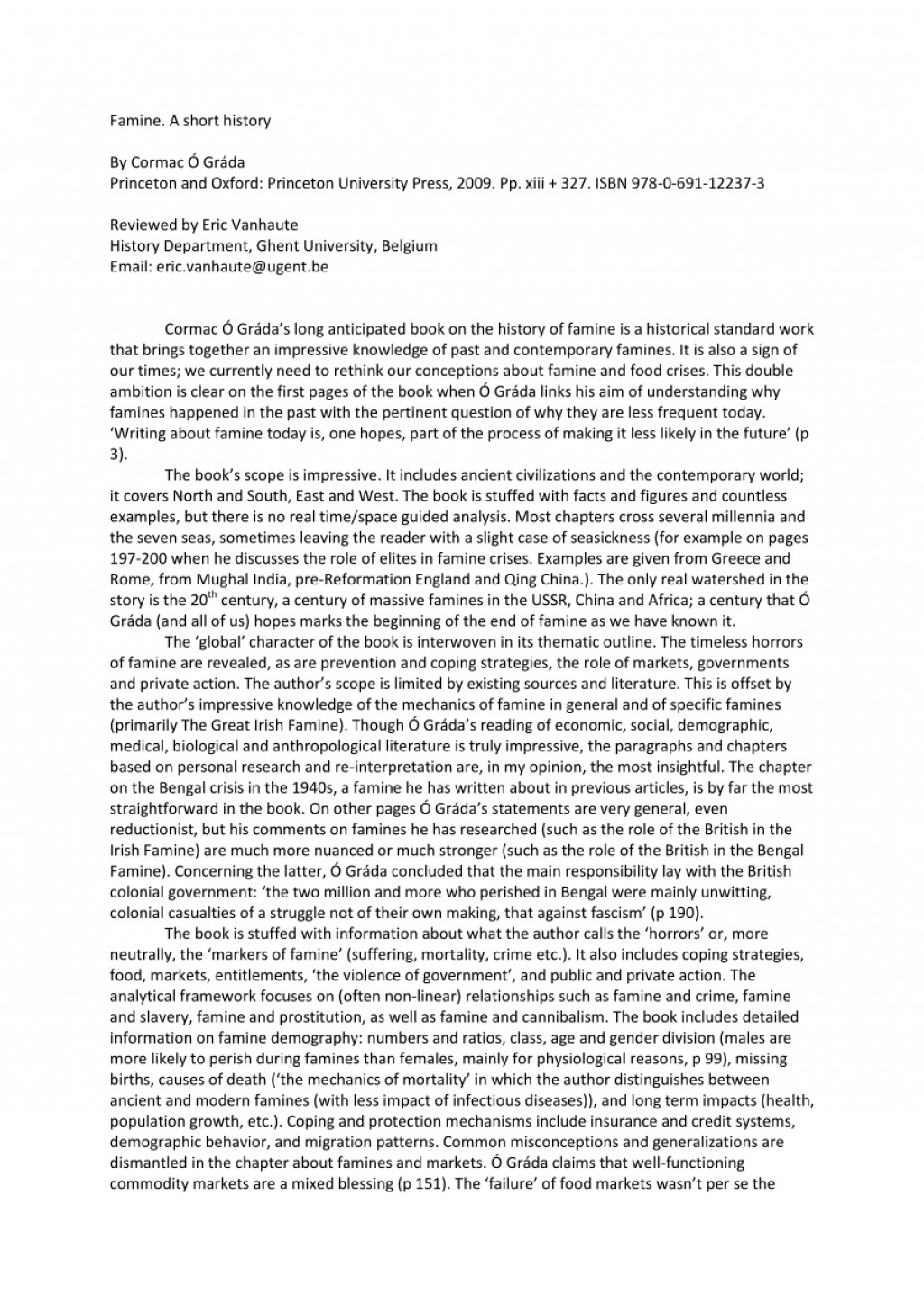 016 Essay Example Largepreview Short On Marvelous Famine Large
