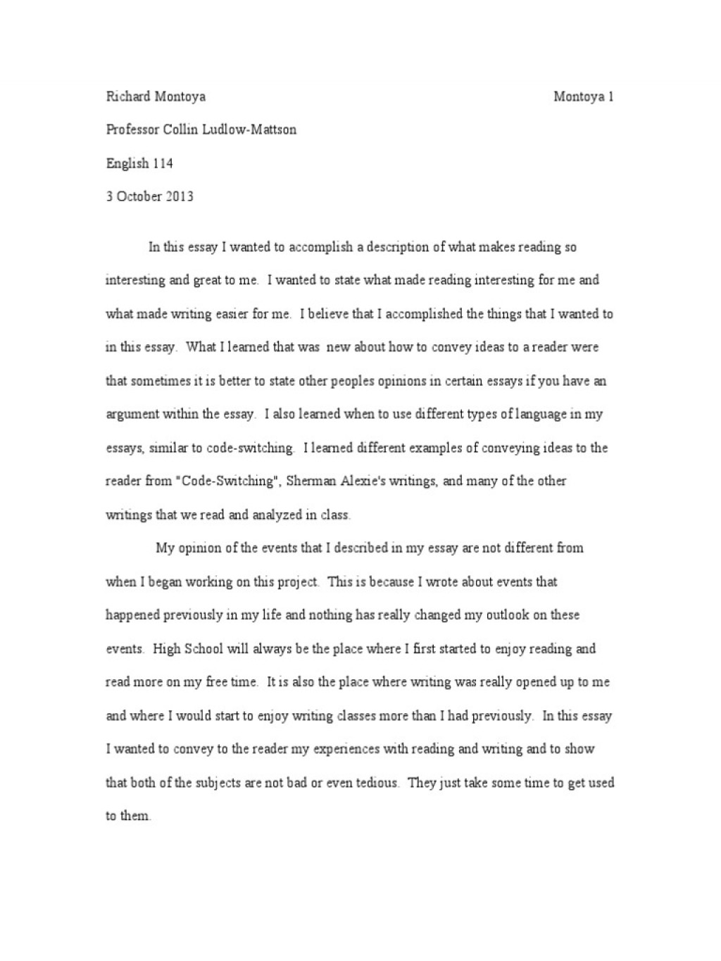 016 Essay Example Literacy Narrative Final Draft Revised Essays Homework How My Writing Has Changed Self Phenomenal Personal Examples Sample Digital Large