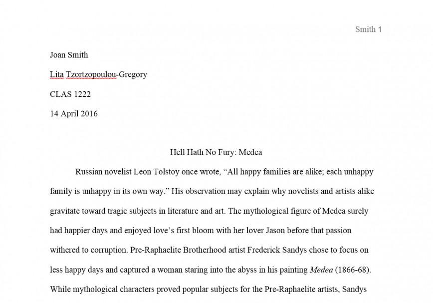 016 Essay Example Mla Format Narrative Staggering