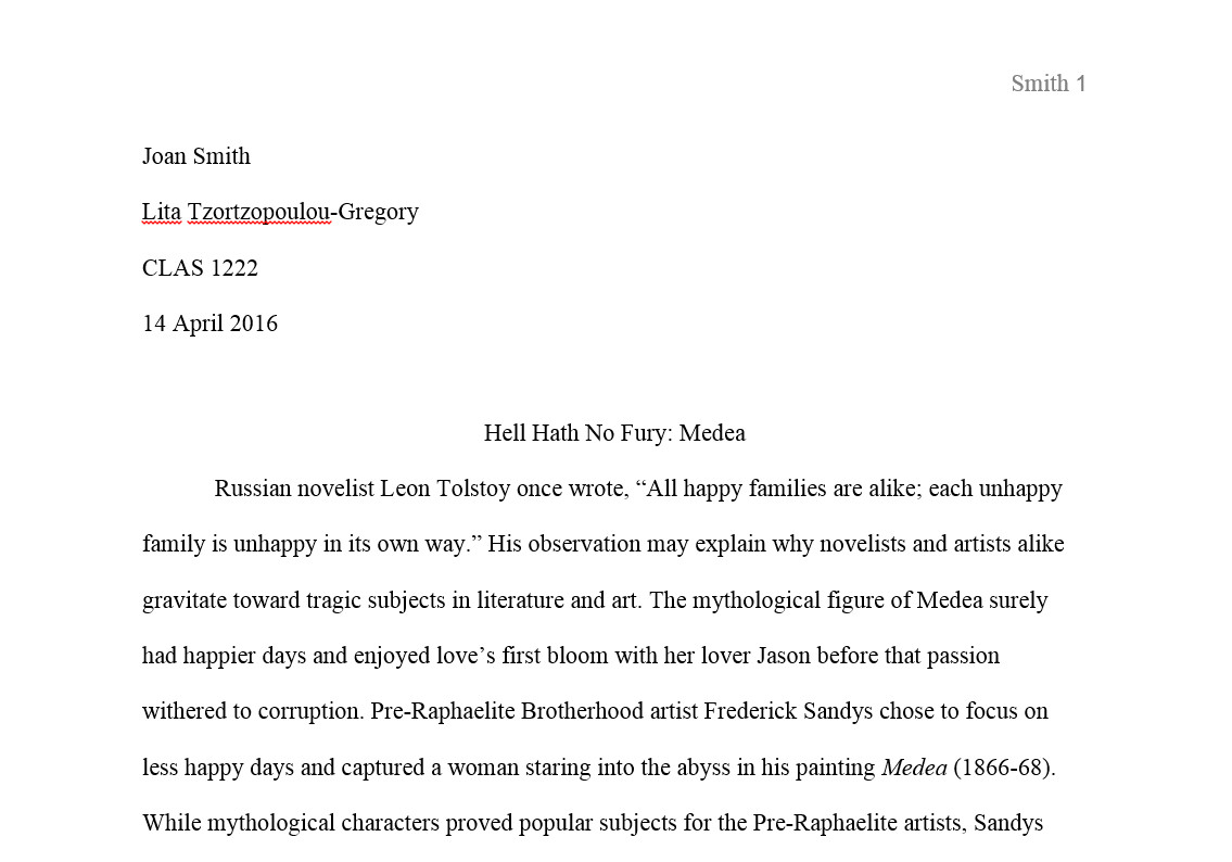 016 Essay Example Mla Format Narrative Staggering Full
