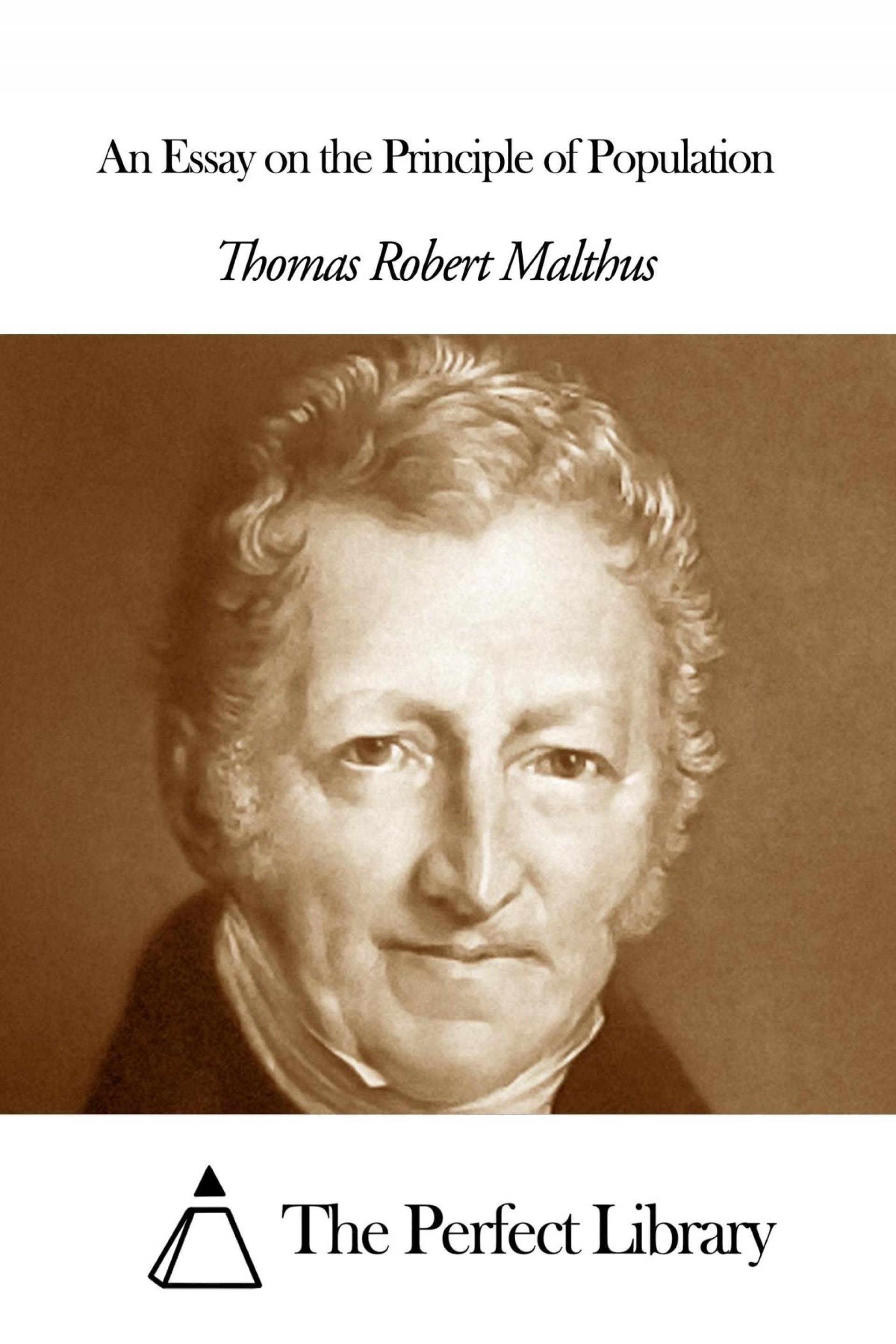 016 Essay Example On The Principle Of Population An Singular Pdf By Thomas Malthus Main Idea 1920