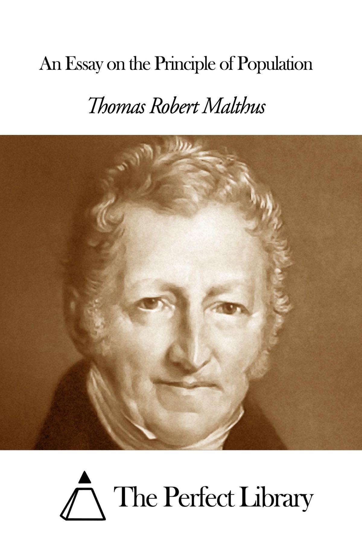 016 Essay Example On The Principle Of Population An Singular Pdf By Thomas Malthus Main Idea Full