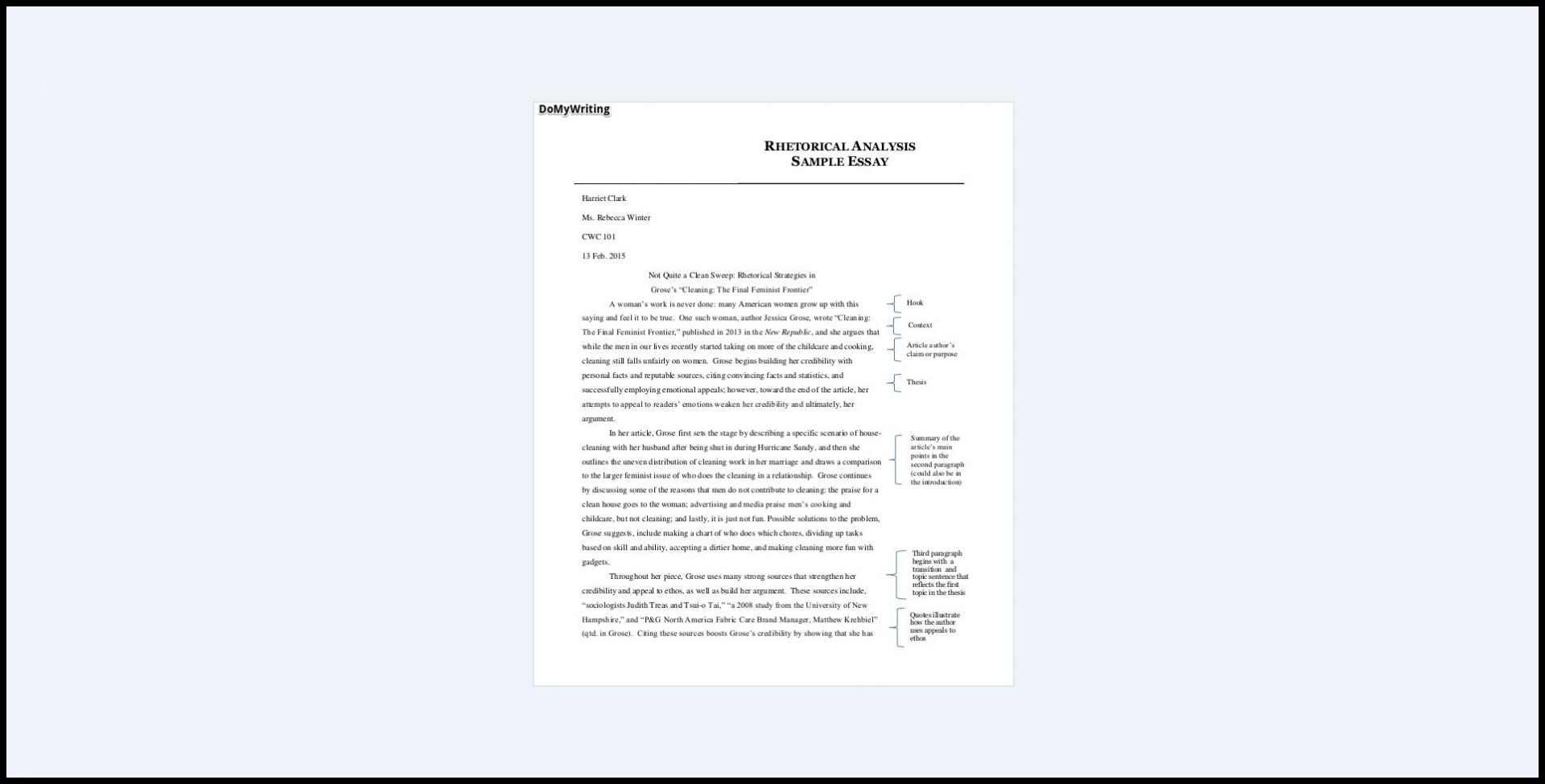 016 Essay Example Rhetorical Impressive Ap Lang Analysis 2016 Devices Examples English 1920
