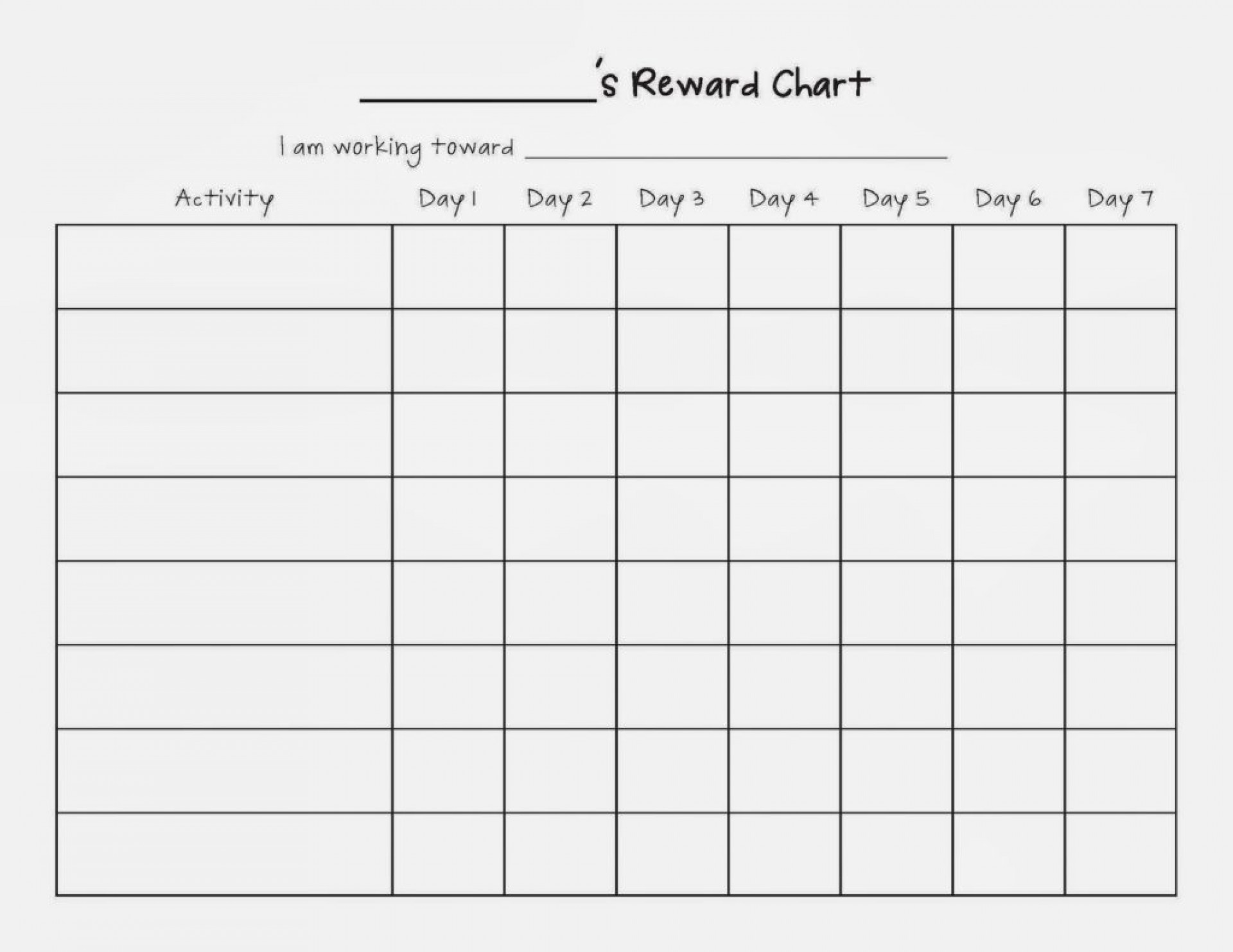 016 Essay Example Uncategorized Free Weekly Reward Chart Blank Template For Children 1024x791 Reword Unique My 1920
