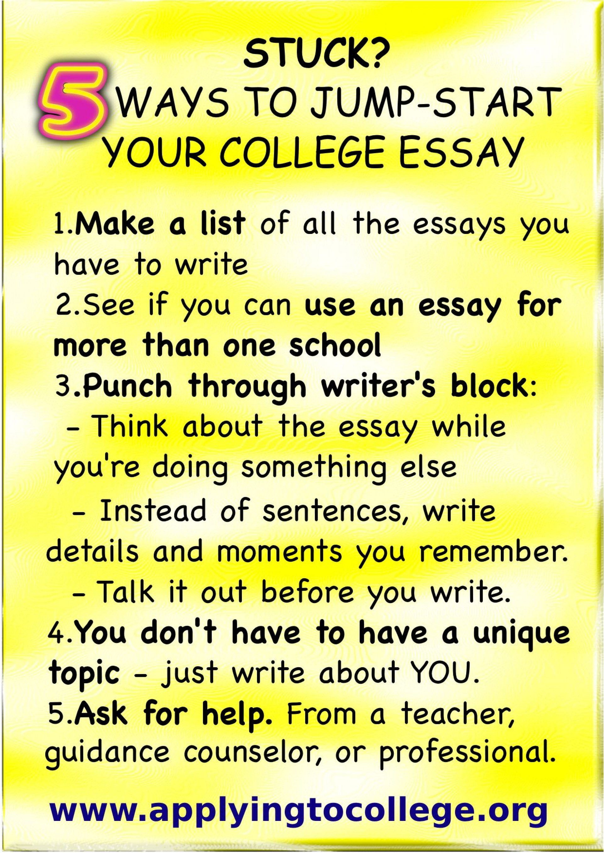 016 Essay Example Writing College Application Rare A Tips For Great How To Write That Stands Out Of 1920