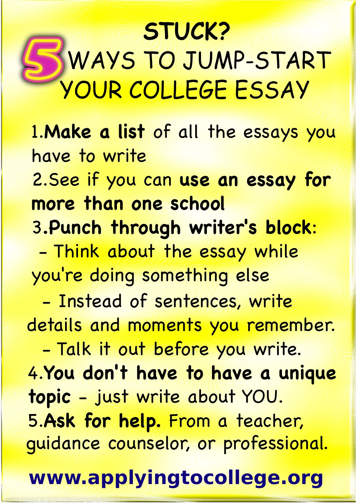 016 Essay Example Writing College Application Rare A Tips For Great How To Write That Stands Out Of Full