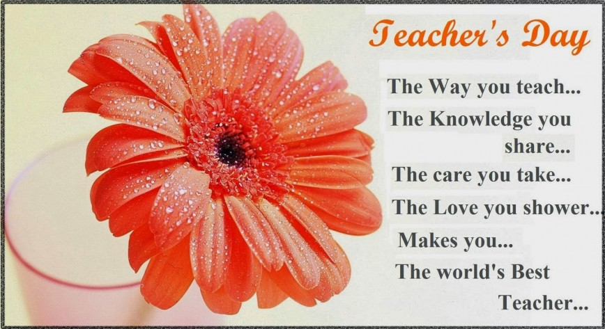 016 Essay On Teachers Day In India Example Happy Fascinating 868