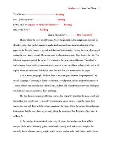 016 Essay Template Mla Format Impressive Structure Example Pdf University Expository Middle School 360