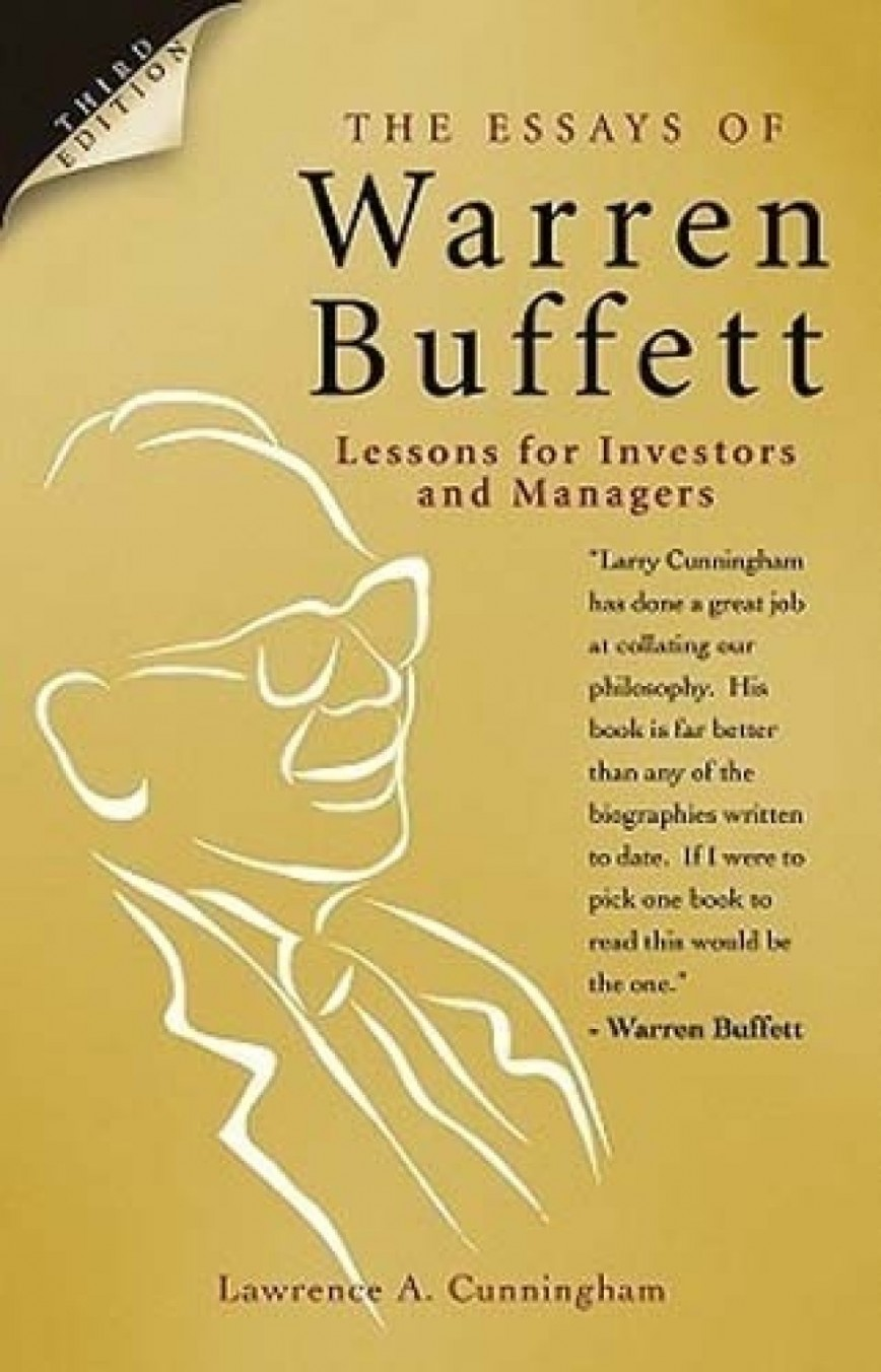 016 Essays Of Warren Buffett Essay Example The Lessons For Investors And Managers Original Top Pdf Free Download 2015