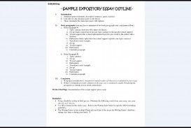 016 Expository Essay Outline Surprising Sample Template Middle School