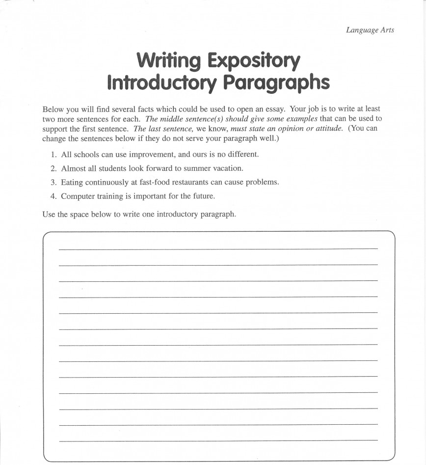 016 Expository Essays High School Writing20expository20introductory20paragraphs Staggering Essay Examples Theme Pdf