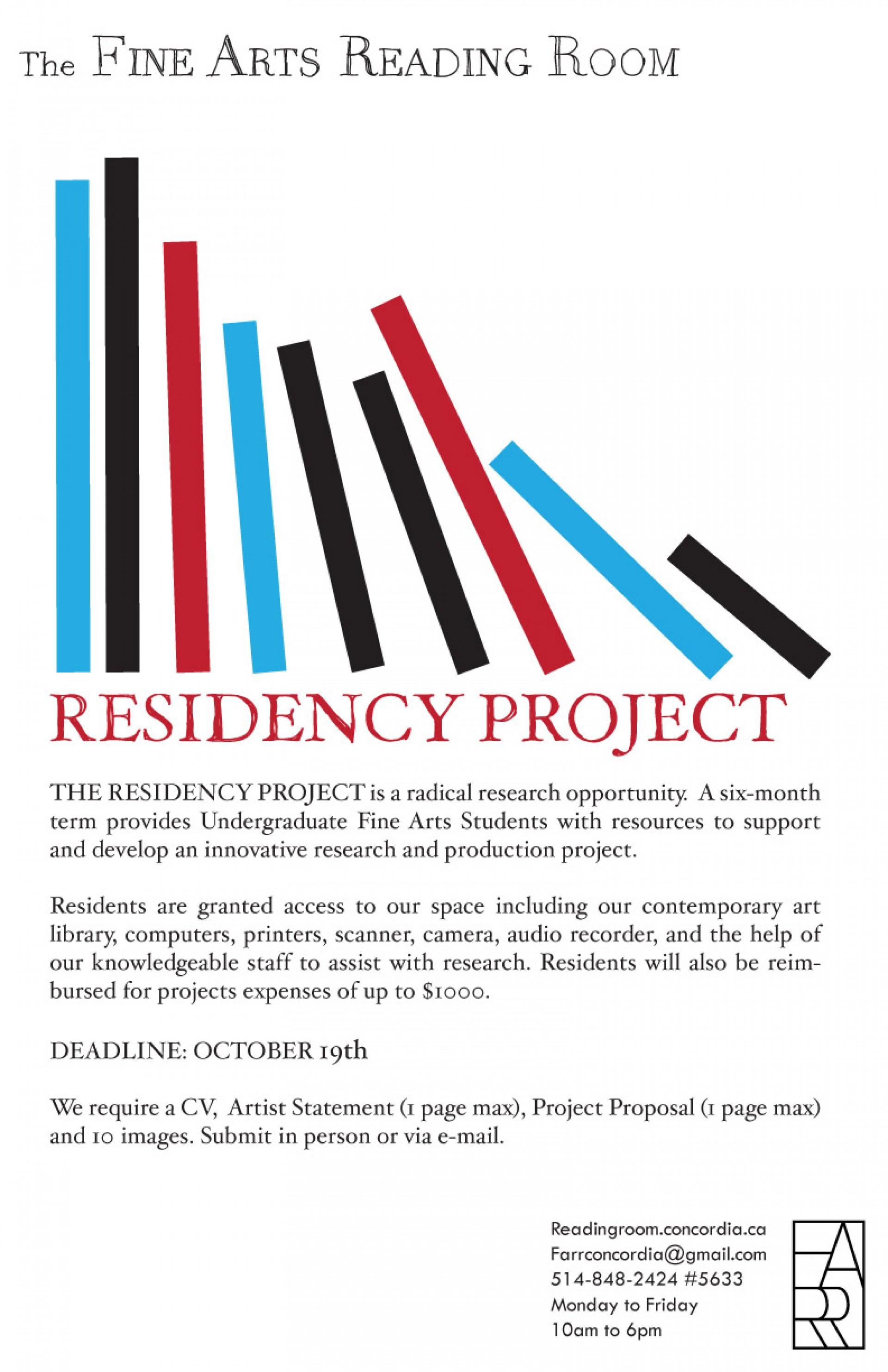 016 Farr Residency Poster Essay Example Fsu Remarkable Application Sample 1920