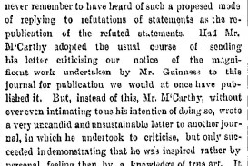 016 Freeman27s Journal 28 January 1863 Letter To The Editor By J  Mccarthy And Its Response Essay Example On Road Accident Imposing Wikipedia