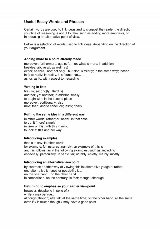 016 Good Topics For Discursive Essay Writtenassignments2usefulessaywordsandphrases Phpapp02 Thumbnail Wonderful A National 5 Interesting Persuasive Large
