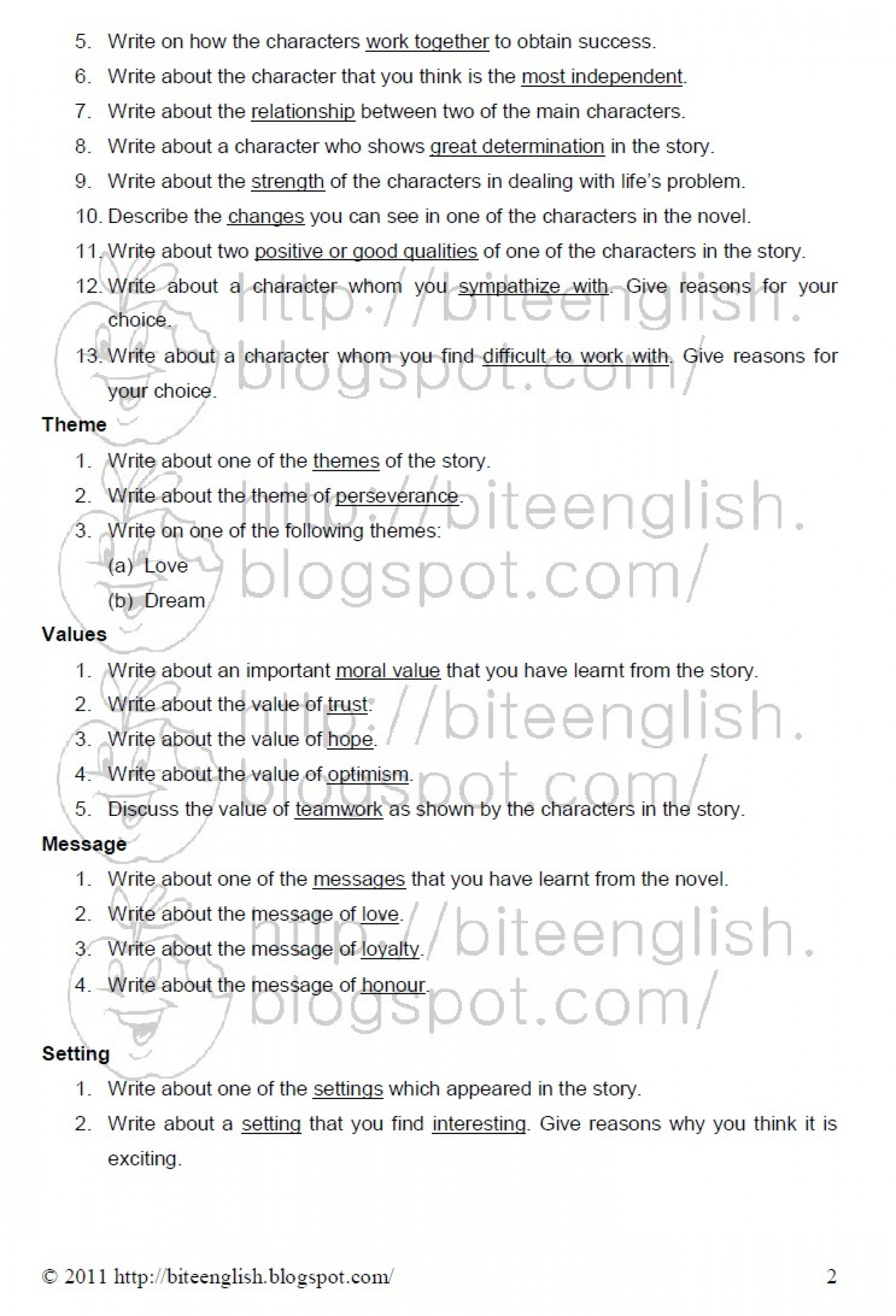 016 How To Write Theme Essay Pmr English Ex Comparison Example Literary Conclusion Introduction Examples Song Analysis Expository High School Paper Marvelous A Hook For 1920