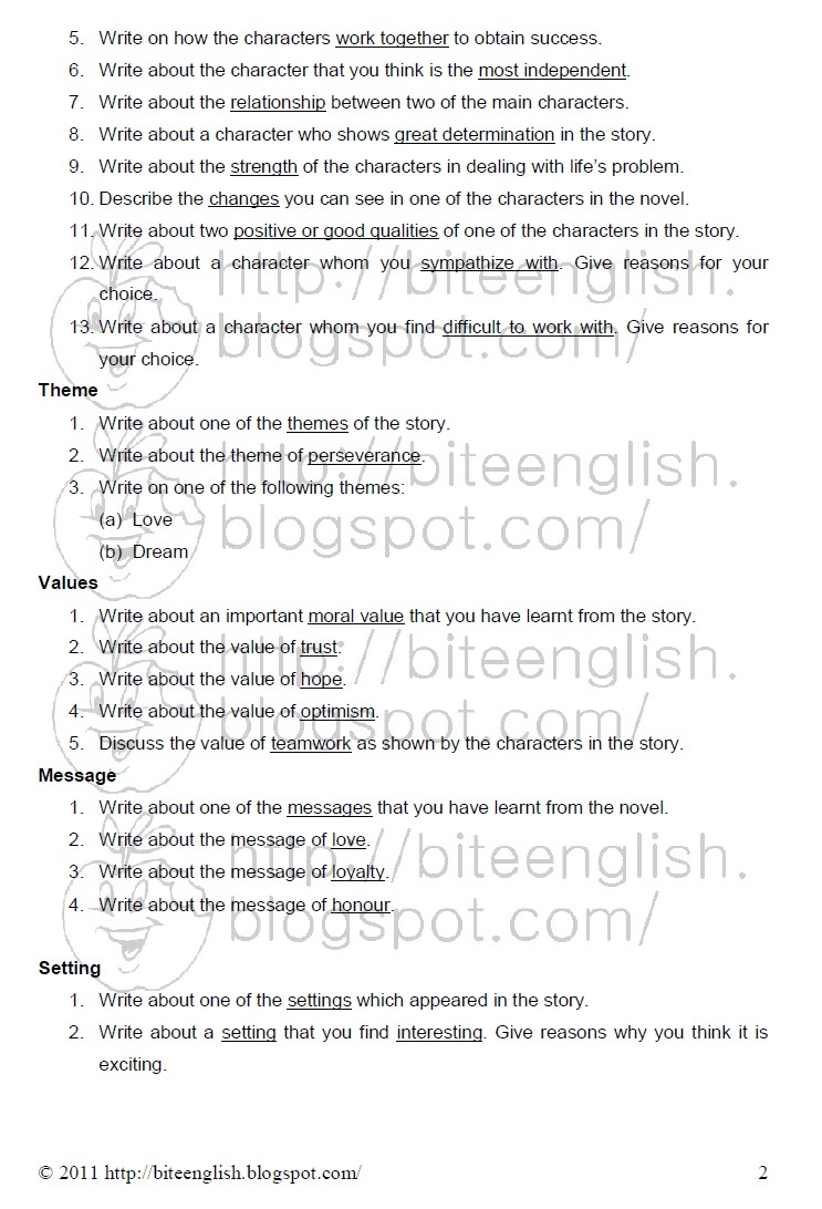 016 How To Write Theme Essay Pmr English Ex Comparison Example Literary Conclusion Introduction Examples Song Analysis Expository High School Paper Marvelous A Hook For Full