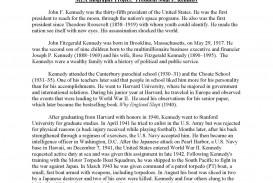 016 Jfkmlashortformbiographyreportexample Page 1 Sample Biography Essay Unforgettable About Myself Elementary Self