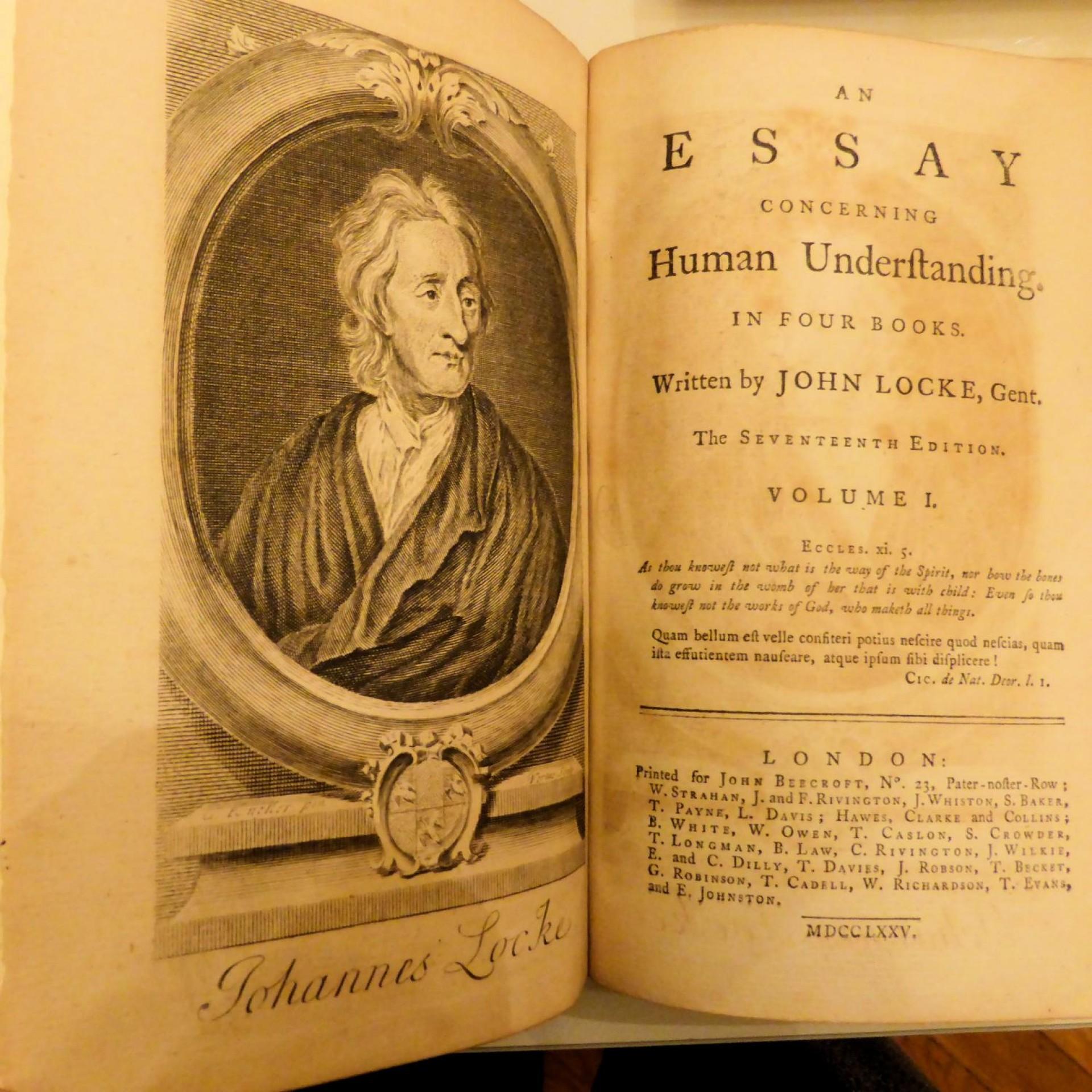 016 John Locke Essay Impressive Concerning Human Understanding Book 4 On Pdf Summary 1920