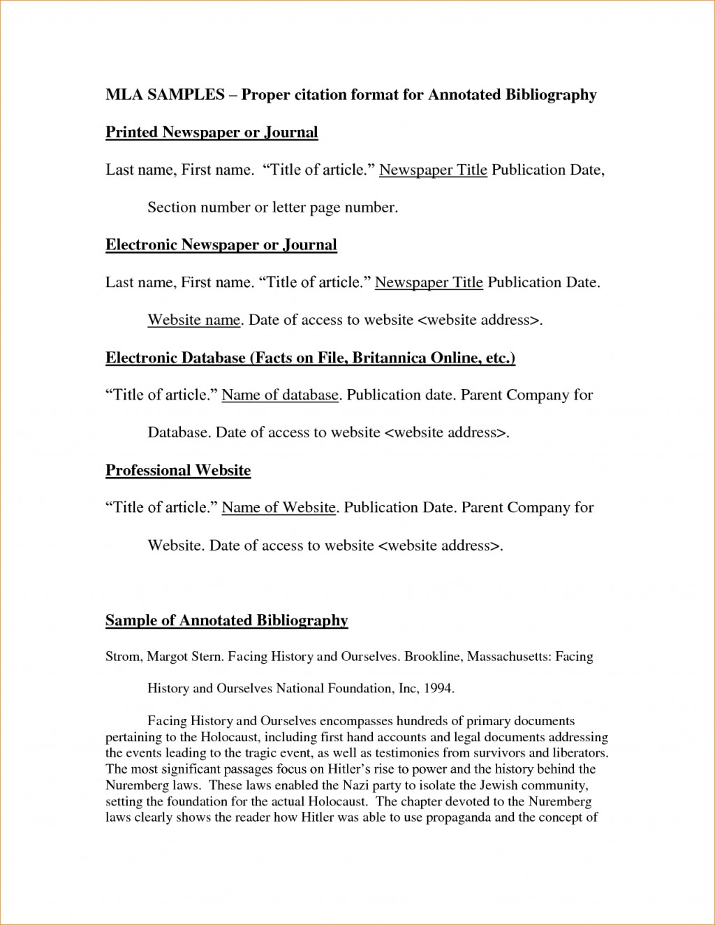016 Mla Format Essay Example In Narrative Annotated Bibliography Template With Cover Page Title Works Cited Argumentative Persuasive Rare Style Pdf Large