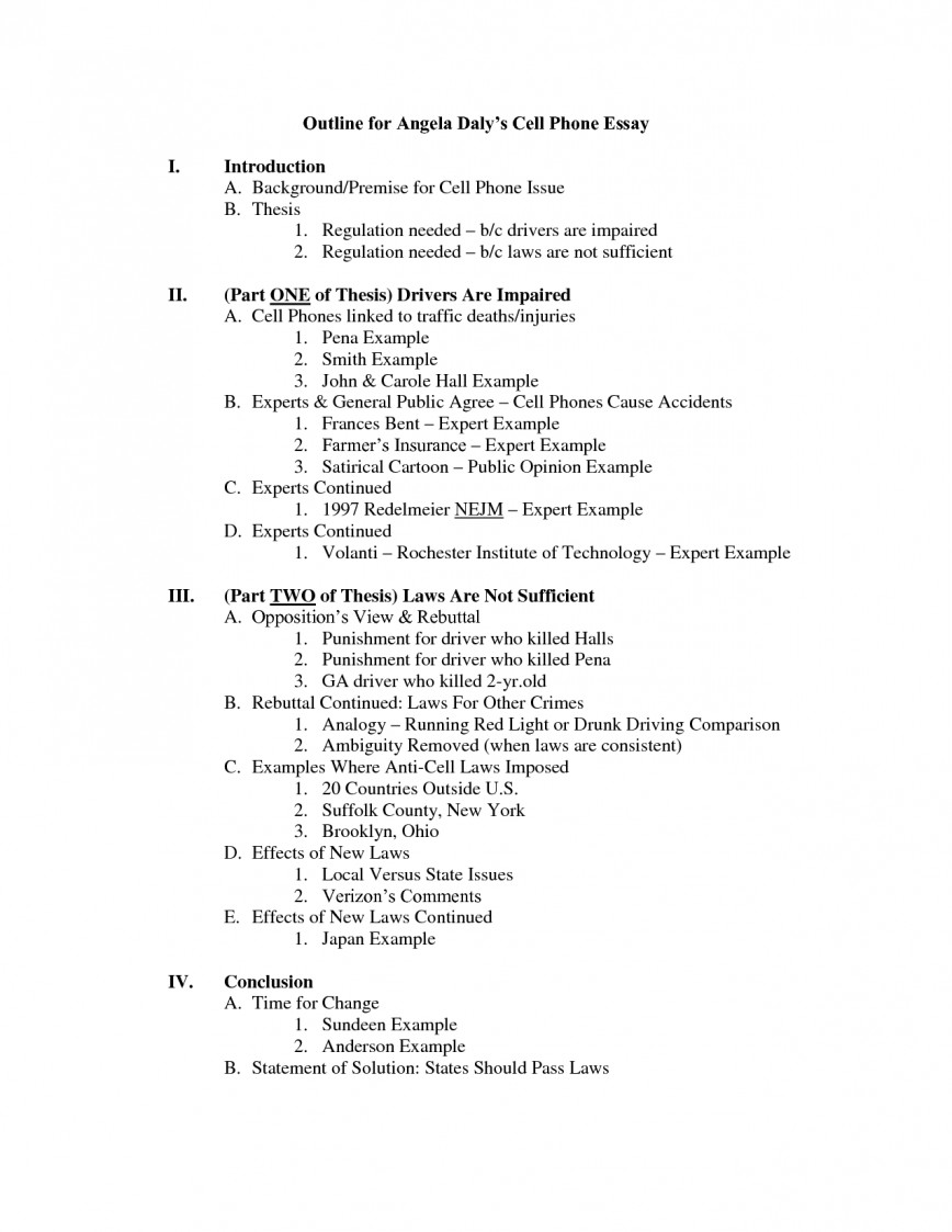 016 Outline For An Essay Striking Persuasive Template Narrative Example College