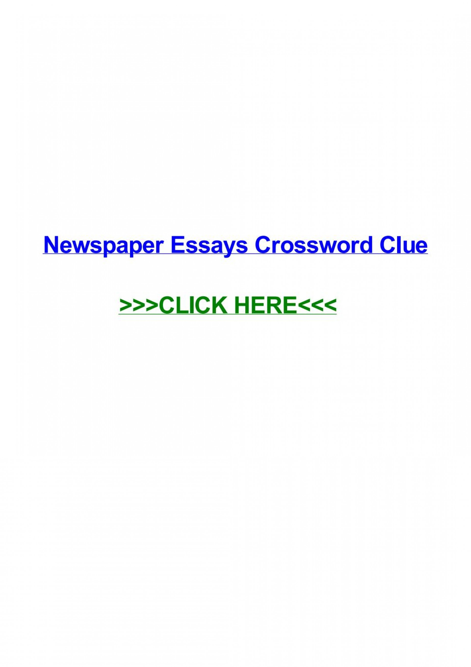 016 Political Essay Crossword Page 1 Dreaded Puzzle Clue 1920