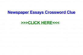 016 Political Essay Crossword Page 1 Dreaded Puzzle Clue