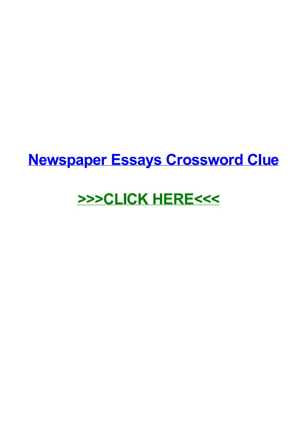 016 Political Essay Crossword Page 1 Dreaded Clue Full