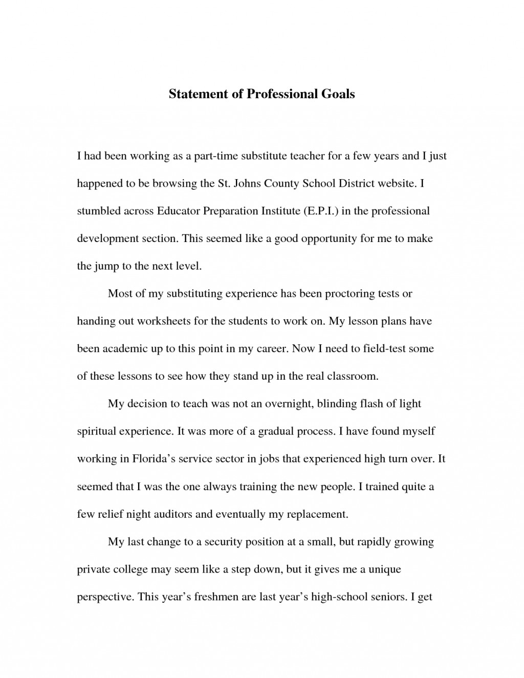016 Professional Goals Statement Letter Sample 653144 Essay Example Vcu Remarkable Personal Large