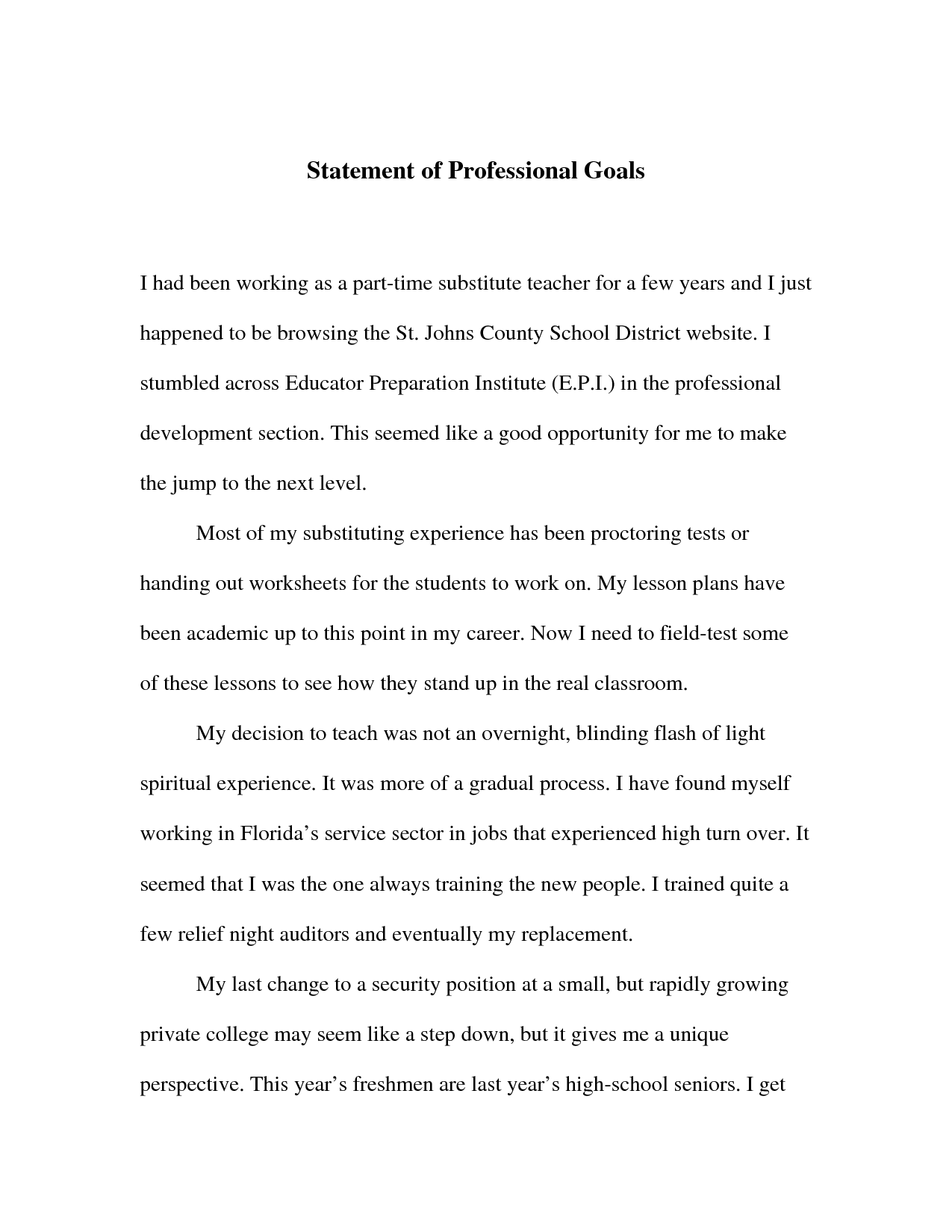 016 Professional Goals Statement Letter Sample 653144 Essay Example Vcu Remarkable Personal Full