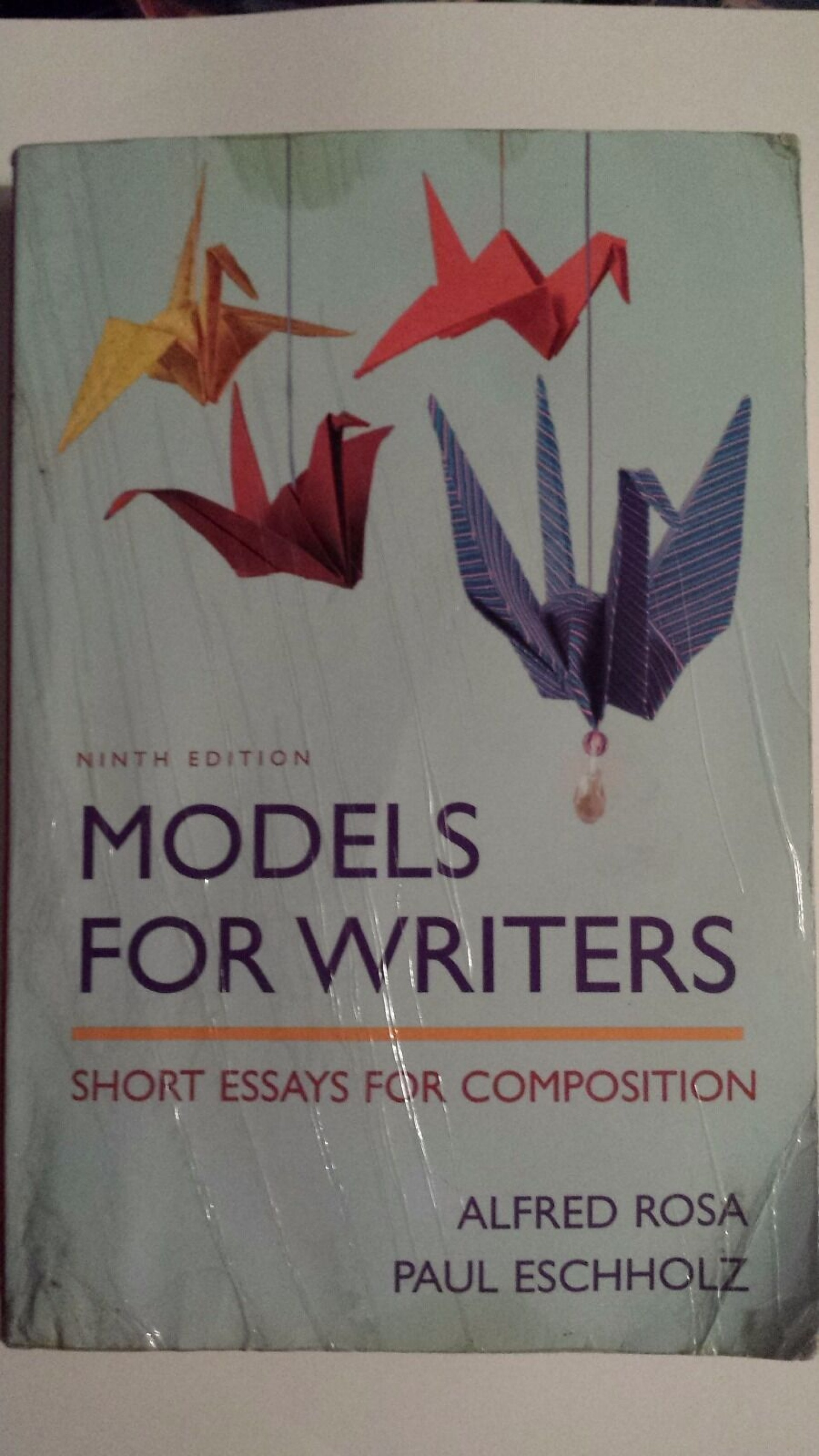 016 S L1600 Models For Writers Short Essays Composition Essay Singular 12th Edition 13th Pdf 1920