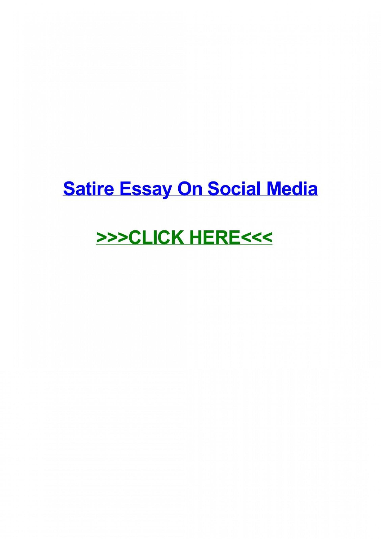 016 Satire Essay On Social Media Example Page 1 Unbelievable 1920
