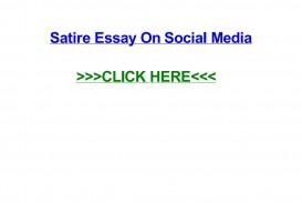 016 Satire Essay On Social Media Example Page 1 Unbelievable