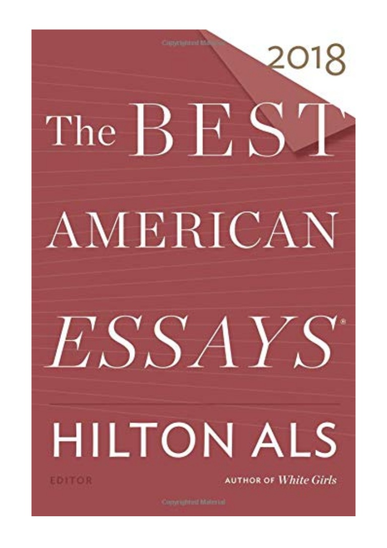 016 The Best American Essays Essay Example Thebestamericanessays2018by Thumbnail Wonderful 2018 List Pdf Download 2017 Free Full