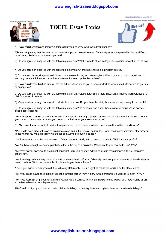 016 Toeflessaytopics Phpapp02 Thumbnail Essay Toefl Topics Dreaded 2017 185 Pdf Ets 1920
