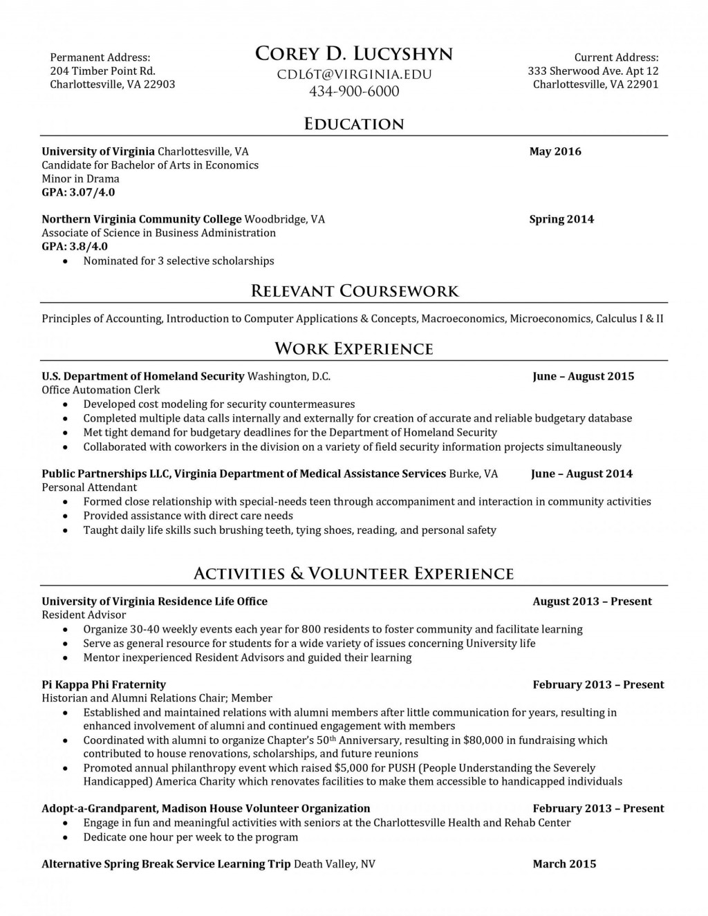 016 Virginia Tech Application Essay Flexibility And The Future Of Classrooms At Resume Corey Luc Questions Outstanding 2017 2016 Large