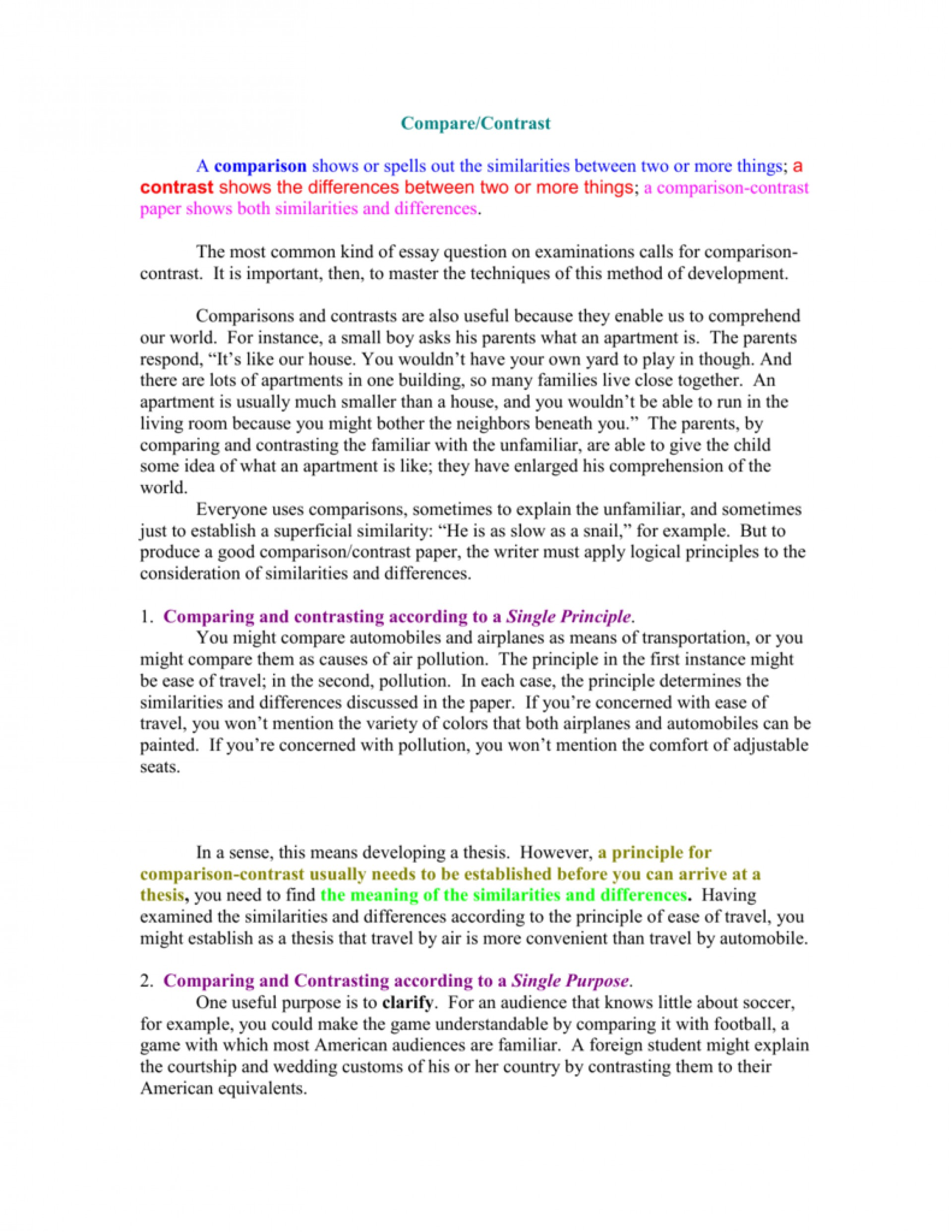 017 007777977 2 Compare And Contrast Essay Striking Example Examples For College Students Topics 7th Grade 1920