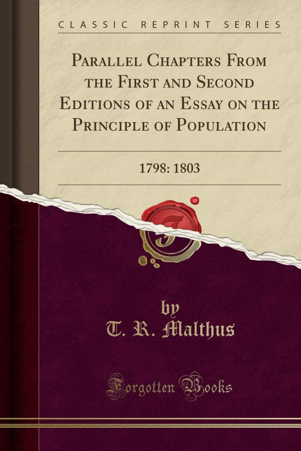 017 61xy24cllwl Essay On The Principle Of Population Singular Thomas Malthus Sparknotes Advocated Ap Euro Large